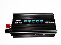 Качественный преобразователь напряжения (инвертор)12-220V 1200W. Универсальная розетка. Купить. Код: КДН831