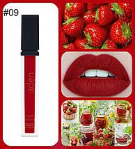 Помада для губ жидкая суперустойчивая матовая Aden Liquid Lipstick 09 Strawberry 8,4 gr Италия Оригинал!, фото 3