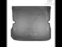 Коврик в багажник Nissan Pathfinder (R52) (14-) полиур. сложенный 3ряд (NORPLAST)
