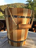 Відро дерев'яне для сауни та бані ручної роботи