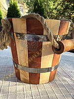 Відро в сауну для дизайну з дерева ручної роботи