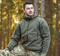 Тактическая флиссовая куртка PATRIOT HELIKON-TEX с капюшоном ОЛИВА