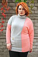 Туника большого размера Лада (3 цв), теплая туника для полных, одежда больших размеров, дропшиппинг