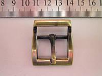 Пряжка для сумки 25 мм тёртый антик