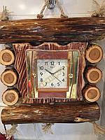 Годинник дерев'янний настінний ручної роботи