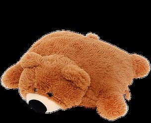 Мягкая игрушка-подушка: Мишка, 45 см, Коричневый