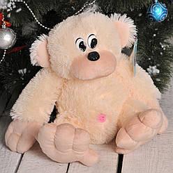 Мягкая игрушка: Обезьяна, 55 см, Персиковая