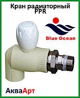 Кран радиаторный шаровый PPR 25*3/4 угловой BLUE OCEAN