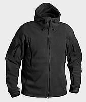 Тактическая флиссовая куртка PATRIOT HELIKON-TEX с капюшоном ЧЕРНЫЙ