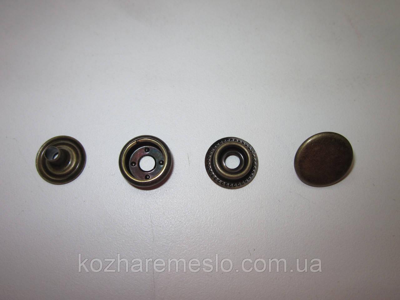 Кнопка каппа 15мм антик