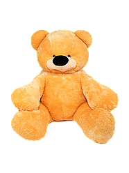 Большая мягкая игрушка: Плюшевый Медведь Бублик, 180 см, Медовый