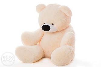 Мягкая игрушка: Плюшевый медведь Бублик, 140 см, Персиковый