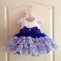 d5230ba18f1 Восхитительное праздничное платье на девочку с пышной юбкой и кружевной  отделкой