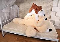 Большая мягкая игрушка медведь Умка  180 см,№5 У2-28  Персиковый (мишка игрушка)
