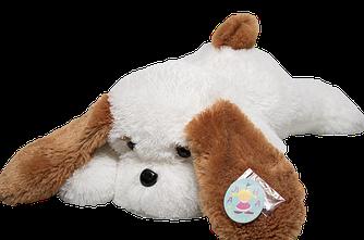 Мягкая игрушка: Собака Тузик, 50 см, Белый