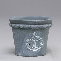 """Вазон из бетона для цветов """"Atlantic""""серый, набор 6 шт"""