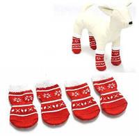 """Носочки для собак """"Новогодние звезды"""" ТМ DOBAZ"""