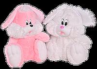 Плюшевая игрушка Зайчик сидячий  35 см,№1, З5-6 Белый (мягкая игрушка заец)