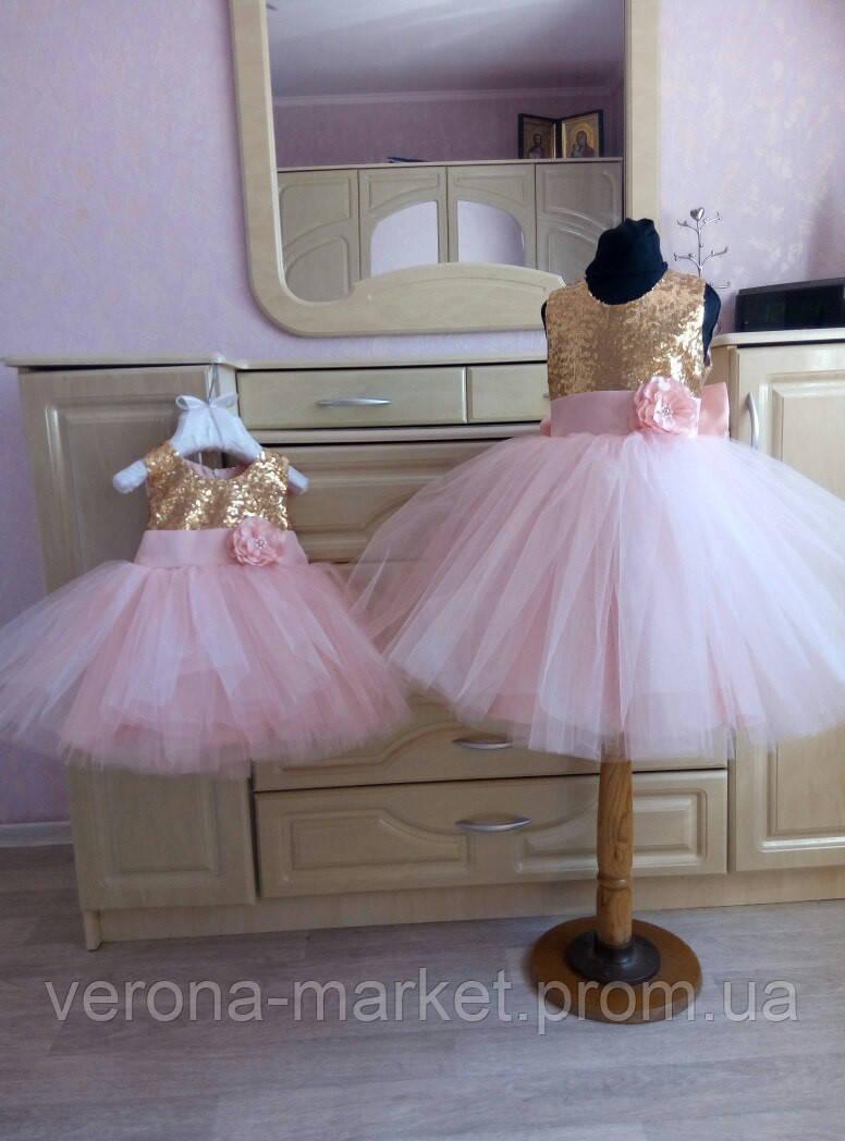 f118aad59311037 Роскошное праздничное платье на девочку с пышной юбкой из фатина и  паейтками, цена 947 грн., купить в Одессе — Prom.ua (ID#388901144)