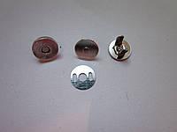 Кнопка - магнит 10 х 1,8 мм никель
