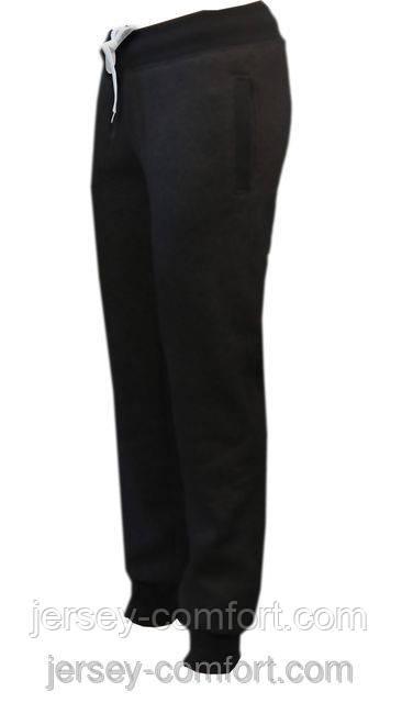 3210831a Теплые женские брюки. Брюки женские утепленные трикотаж-начес 56, Черный