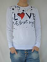 "Кофта тонкая женская ""Love"" - белый"
