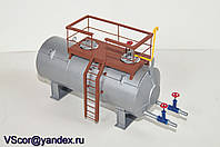 Модель топливноей бочки, емкость, резервуара масштаб 1/43 1/36
