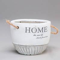 """Вазон из бетона для цветов """"Home""""белый, набор 6 шт"""