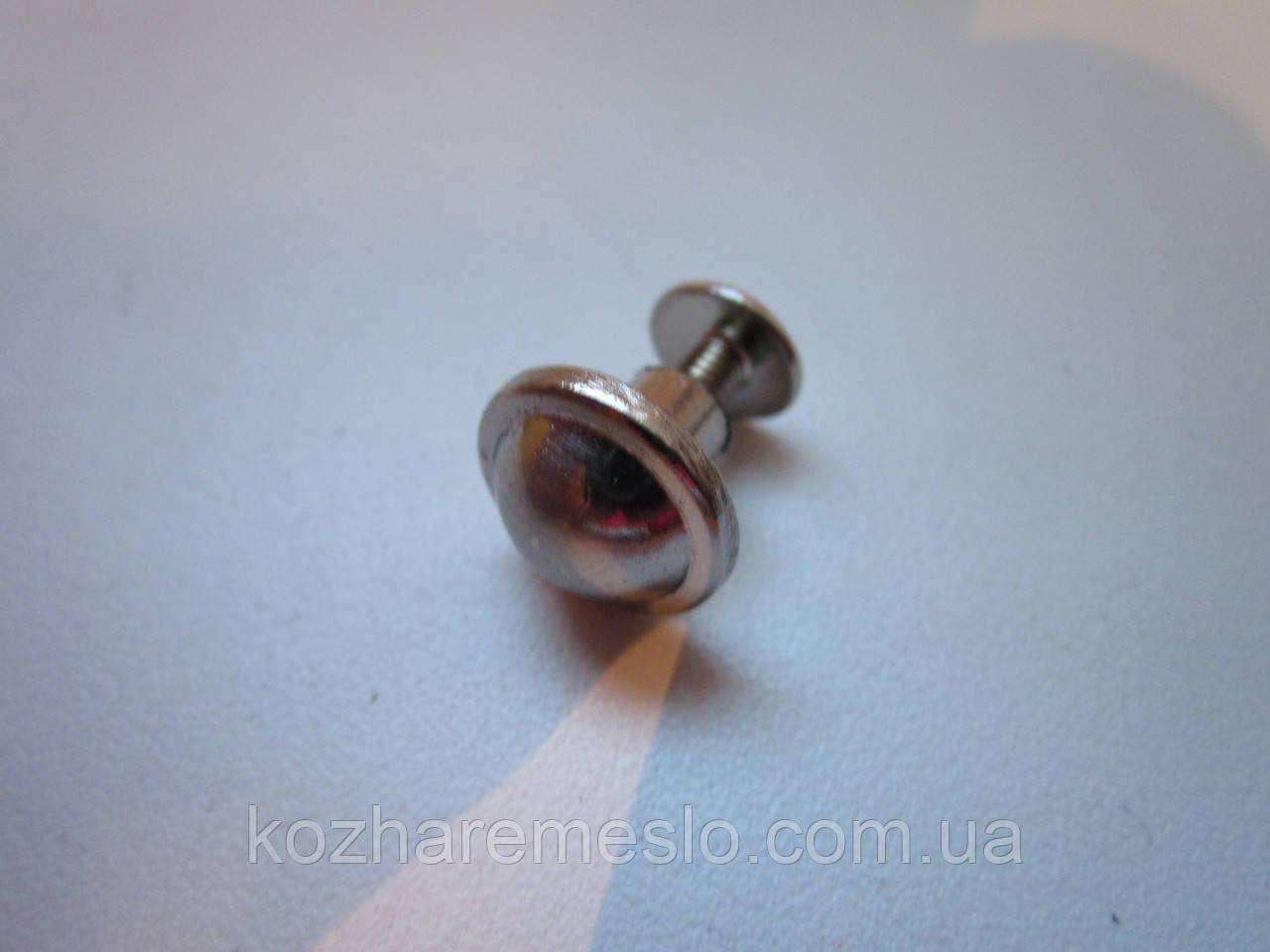 Винт ременной декоративный 12 х 11,7 мм никель