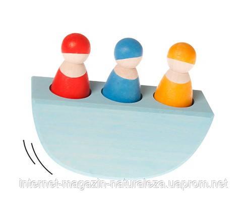 Игрушка Трое друзей в лодке ТМ Grimms, фото 2