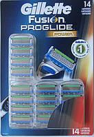 Лезвия Gillette Fusion Proglide Power 14, Count Cartridge , фото 1