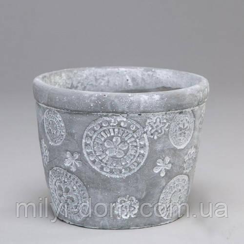 """Вазон из бетона для цветов """"Цветочки"""" серый, набор 6 шт - Милый ДОМ в Одессе"""