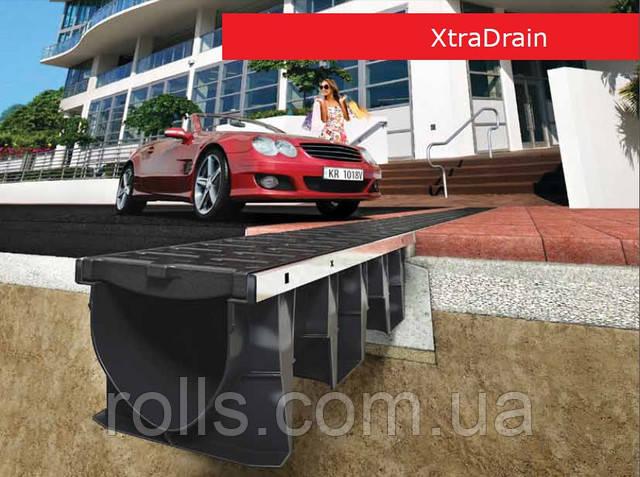 Система поверхностного линейного водоотвода ACO XtraDrain X100C малой высоты