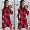 Разноцветные платья свободного кроя с воротничком(цвета), фото 4