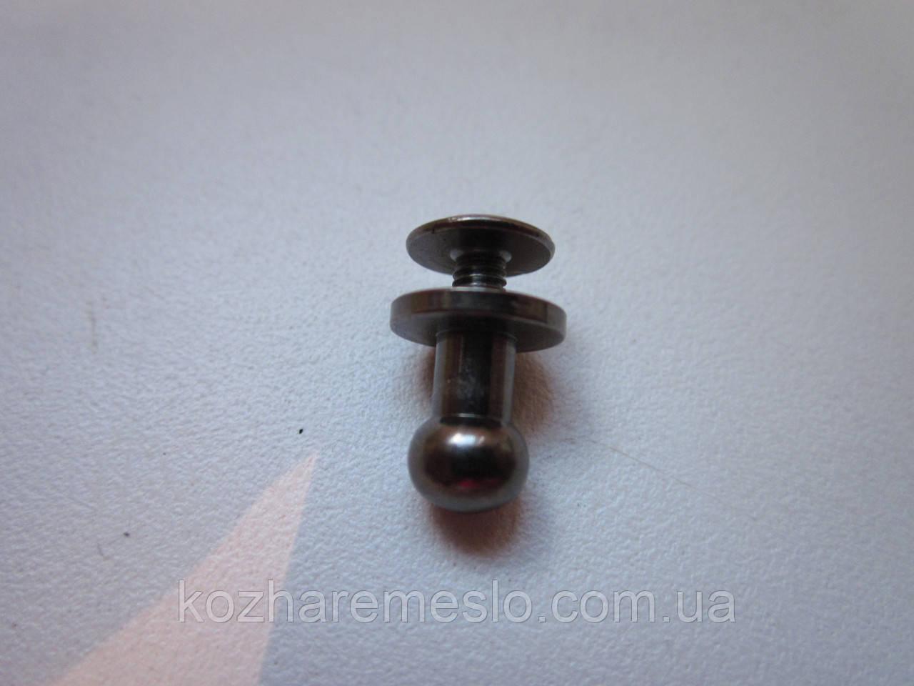 Винт кобурной 6 х 10 мм тёмный никель