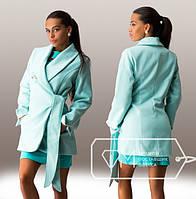 """Стильное длинное кашемировое пальто  """" Брошка """" Dress Code"""