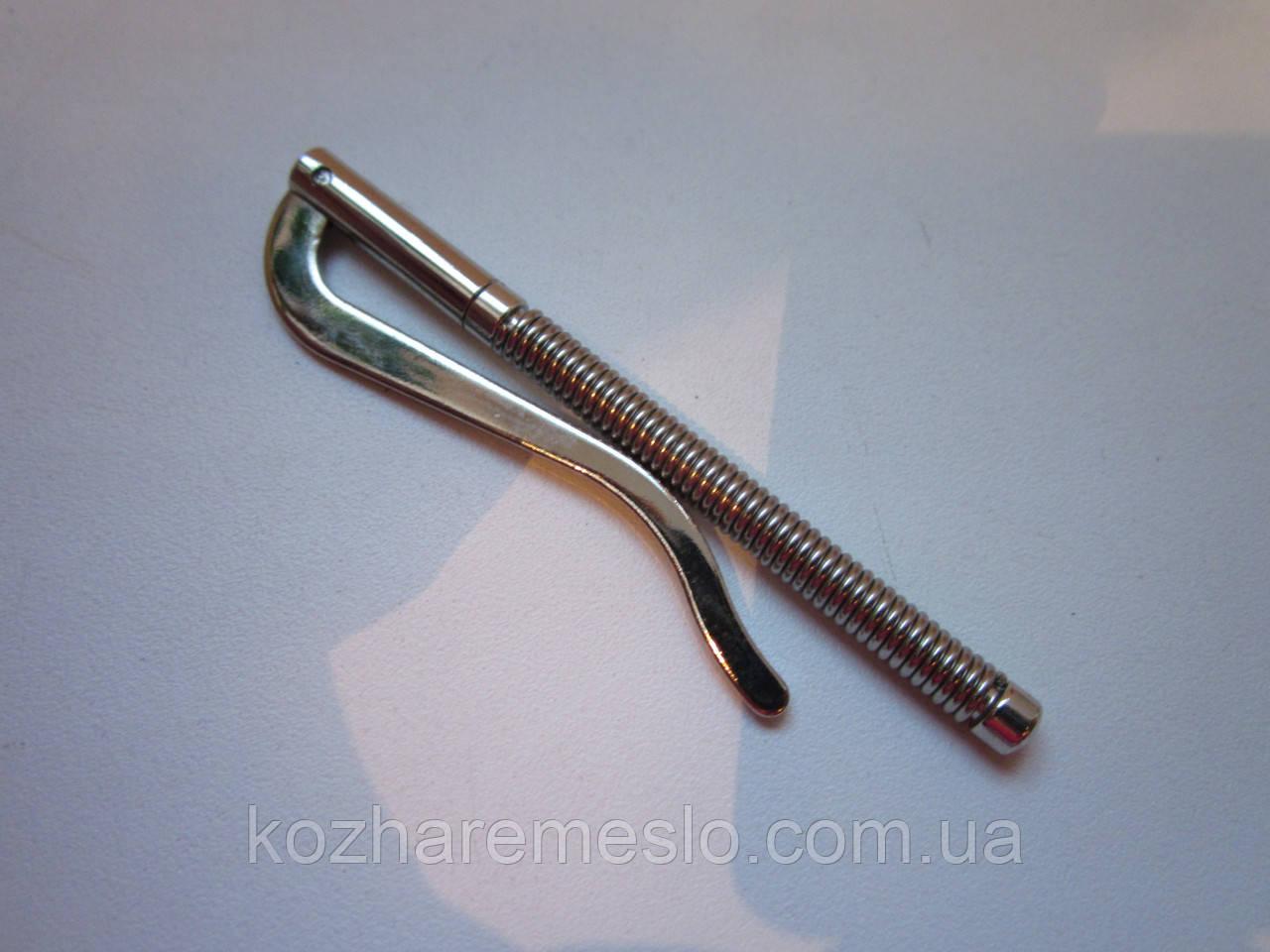 Прижим для купюр пружинный 75 мм никель