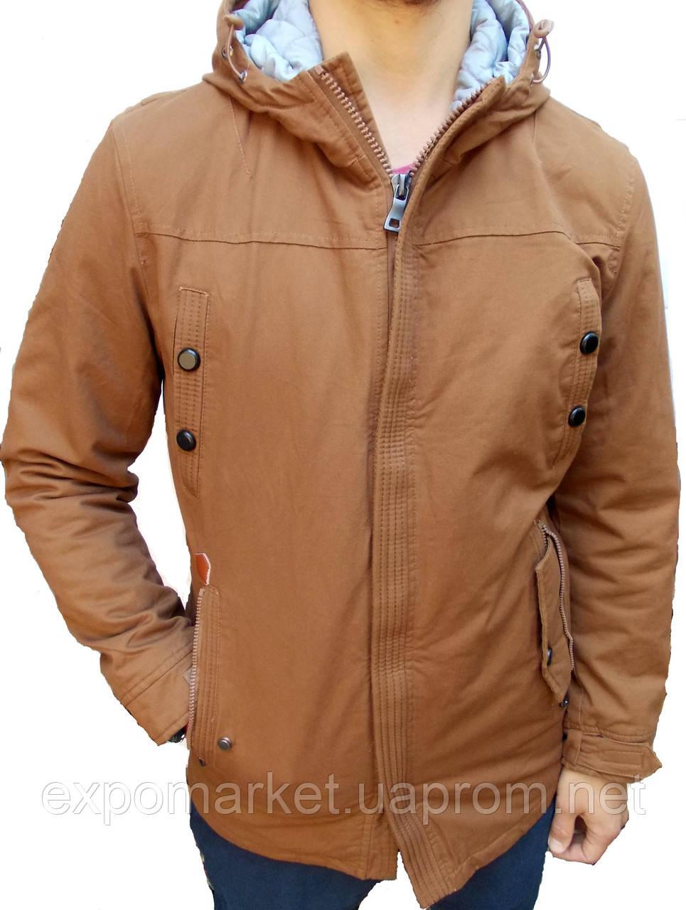 Мужская зимняя куртка парка, размер S-М 46-48