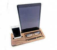 Подставка для телефона и планшета из дерева Офис