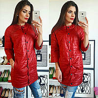 Куртка удлиненная, модель 203, красный