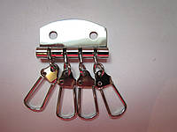 Ключница 4 карабина никель