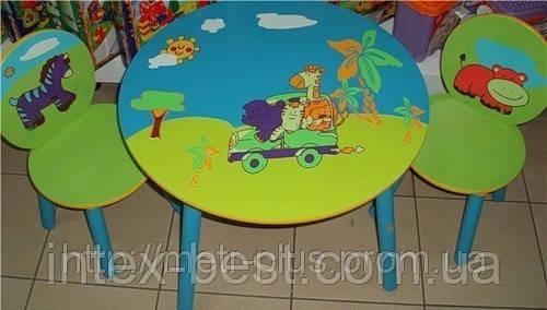 Детский столик со стульчиками «Сафари» Е 03-1145
