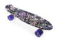 """Пенни Борд """"Сакура"""" 22″ Фиолетовые Колеса / пенниборд скейт (penny board), скейтборд"""