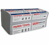 Полотенце бумажное PROservice 33760820 серый економ V-скл. макулатурный /160шт