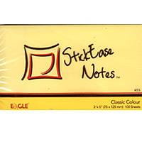Блоки бумажные самоклеющиеся Eagle 655Y желтый 75х125мм 100шт