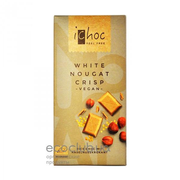 Шоколад органический белый White Nougat Crisp iChoc 80г