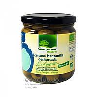 Оливки зеленые органические без косточек Campomar Nature 350г
