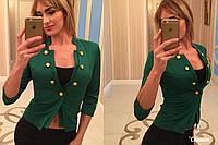 Жакет женский, модель  07, зеленый