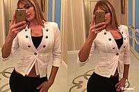 Жакет женский, модель 07, белый