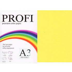 """Бумага насыщенных тонов PROFI 210 (43198) лимонный А3 120гр 250л """"Deep Lemon"""" насыщенный"""